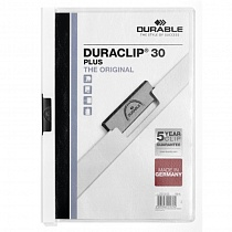 Папка с клипом Durable  Duraclip Plus, до 30 листов, А4, ПВХ