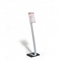 Стенд информационный Durable Crystal Sign Stand, напольный, A4