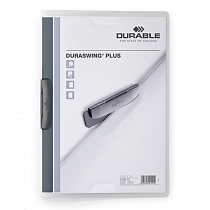 Папка с клипом Durable Duraswing Plus, до 30 листов, А4, полипропилен